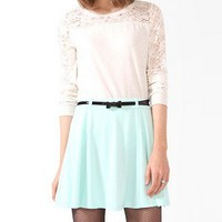 Heathered Lace Panel Top