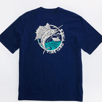 Vineyard Vines - Woodblock Sailfish Pocket Tee