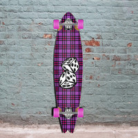 Punked Fishtail Dice Longboard 40 inch - Complete