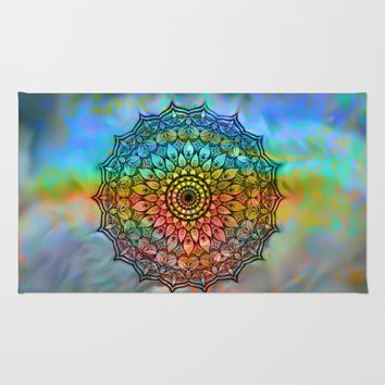 Mandala In the wind Rug by Jeanette Rietz