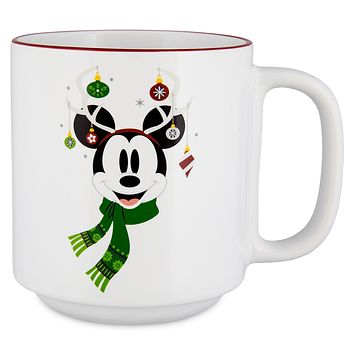 Disney Parks Santa Mickey Mouse Holiday Merry and Bright Mug New