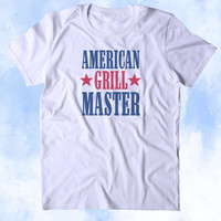 American Grill Master Shirt BBQ Barbecue Party USA America Merica Grilling Tumblr T-shirt
