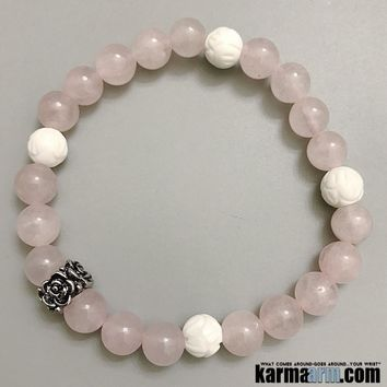 BALANCE EMOTIONS: Tridacna | Rose Quartz | Yoga Chakra Bracelet