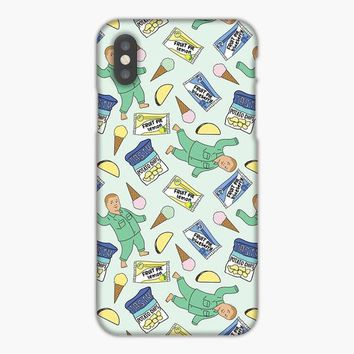 Bobby Hill Snacks Pattern iPhone 8 Case