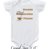 Grande Boobuccino Breast Feeding Funny Baby Bodysuit  for the Baby