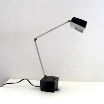 Vintage Desk Lamp / Retro Mid Century Office Light / Executive Lighting