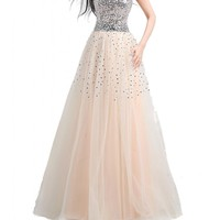 Albrose Long Women's Long Sequins Prom Formal Evening Dress