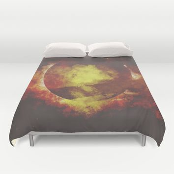 The baby moon Duvet Cover by HappyMelvin