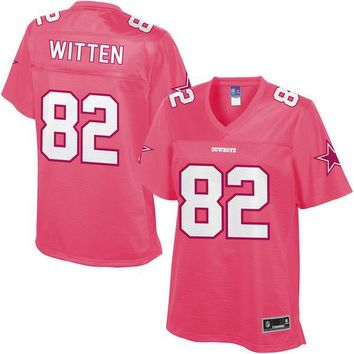 Women's Dallas Cowboys Jason Witten NFL Pro Line Pink Fashion Jersey