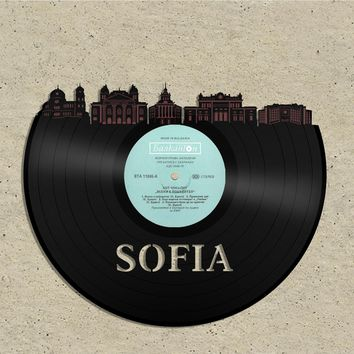 Best Anniversary Gifts For Women, Gift Ideas For Couple, Parents, Him, Her, Wife, Bride,  Sofia Skyline, Your City Art Personalized,