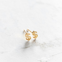 Seoul Little 24k Gold-Plated Dollar Post Earring | Urban Outfitters