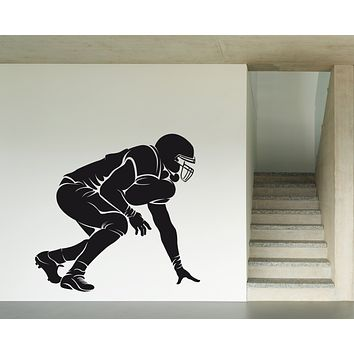 Vinyl Decal Wall Sticker Silhoutte Soccer Player American Footbal Unique Gift (n698)