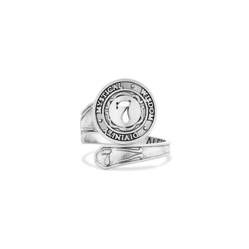 Number 7 Spoon Ring