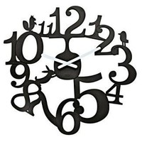 Koziol PIP Wall Clock Black - Speranza Design Gallery