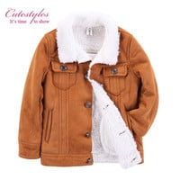 Pettigirl Autumn And Winter Boys Fur Coats Warm Brown Kids Overcoats Children Fashion Jacket Clothing B-DMOC908-941