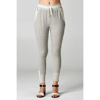 Sporty Chic Sweatpants - Grey - Clothing