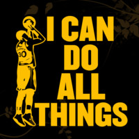 Stephen Curry Silhoutte I Can do all things Decal for your Car, Walls, Laptops, iPhone
