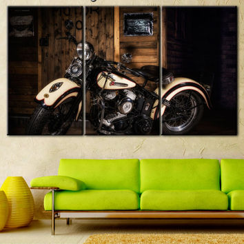 Motorcycle, Motorcycle art, Motorcycle canvas, biker gift, Motorcycle house, Harley Davidson, Harley, Harley picture, Harley print gift