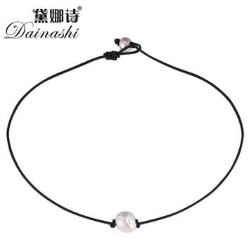Dainashi new arrival sweet cute and romantic rope chain chokers baroque pearl necklaces fine jewelry
