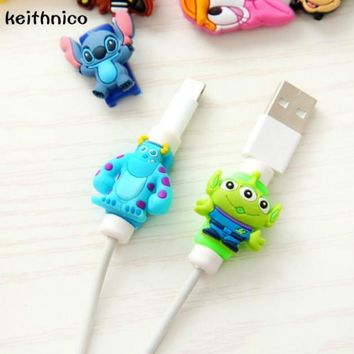 KEITHNICO 2Pcs Cable Saver Protector USB Charger Data Line Wire Cord Protection Cover Cable Winder For iPhone For Ipad Mini