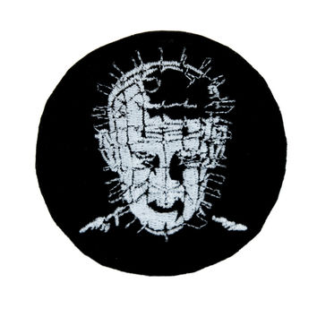 Hellraiser Pinhead Patch Iron on Applique Occult Clothing Horror Movie Clive Barker