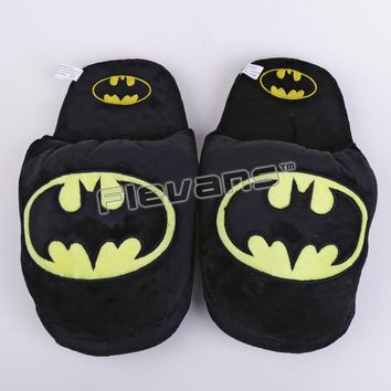 Superhero Batman Superman Deadpool Spiderman Plush Shoes Home House Winter Slippers for Children Women Men