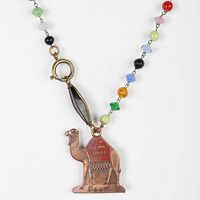 Lux Revival Camel Deco Glass Necklace - Urban Outfitters