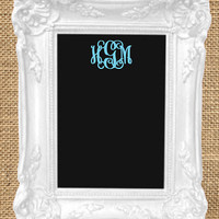 Monogrammed Custom Wood Photo Frame