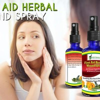 First Aid Herbal Wound Spray For Minor Cuts, Scrapes, Burns, Redness & Inflammation