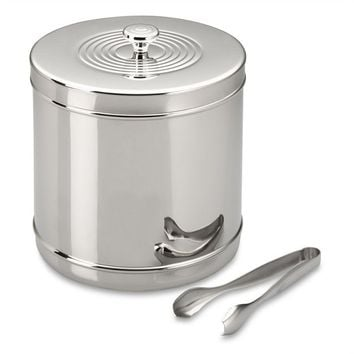 Stainless-Steel Ice Bucket with Tongs | Williams-Sonoma