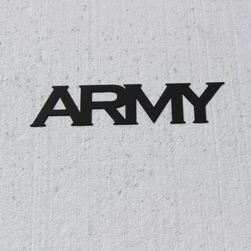 ARMY Military Logo Metal Wall Art Military Decor