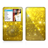 The Orbs of Gold Light Skin For The Apple iPod Classic