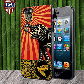 Obey Elephant Art case for iPhone 5, 5S, 4, 4S and Samsung Galaxy S3, S4