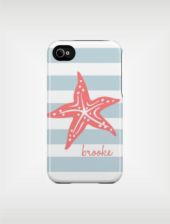 Personalized iPhone Case 4 / 4S or 3G  Aqua by adropofgoldensun