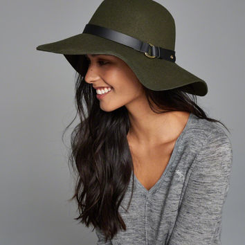 Womens Buckle Felt Hat | Womens New Arrivals | Abercrombie.com