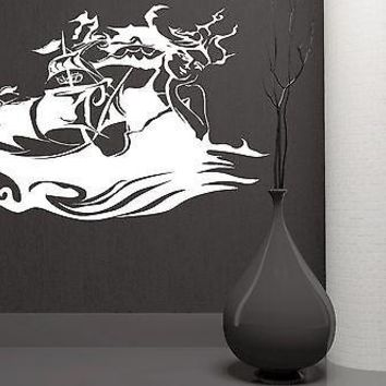 Wall Sticker Vinyl Decal Pirate Ship Wave Ocean Sea Marine Decor Unique Gift (ig1840)