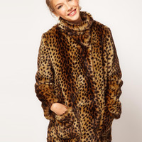 Winter Fashion Leopard Cotton Coat