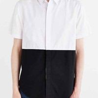 Charles & 1/2 Colorblocked Poplin Button-Down Shirt- White