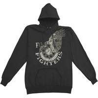 Foo Fighters Men's  Wings Hooded Sweatshirt Black Rockabilia