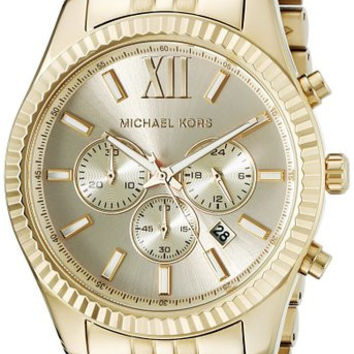 Michael Kors Men's Lexington Gold-Tone Watch MK