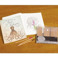 The Art of Nature Coloring Book with 30 Colored Pencils