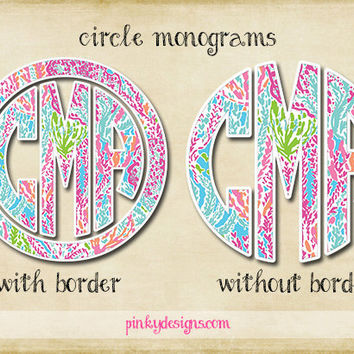 Lilly Pulitzer Circle Monogram - Let's Cha Cha