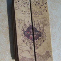 Harry Potter Dollhouse Miniature Marauder's Map by LittleWooStudio