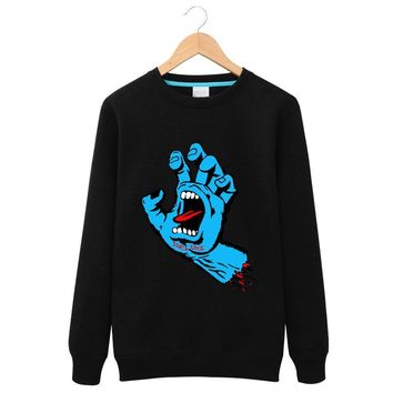 OEM Skateboard Skate Brand Santa Cruz Men Hoodies Top Quality Hoodies Printed 2017 Round neck men and women couple shirt