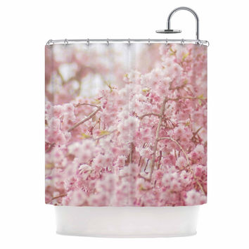 "Debbra Obertanec ""Spring Pinks"" Floral Digital Shower Curtain"