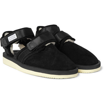 Suicoke - Shearling Sandals | MR PORTER