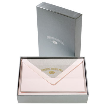 Bi-Color Pink and Grey Note Card Box