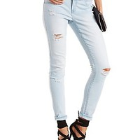 "REFUGE ""HI-WAIST SKINNY"" DESTROYED JEANS"