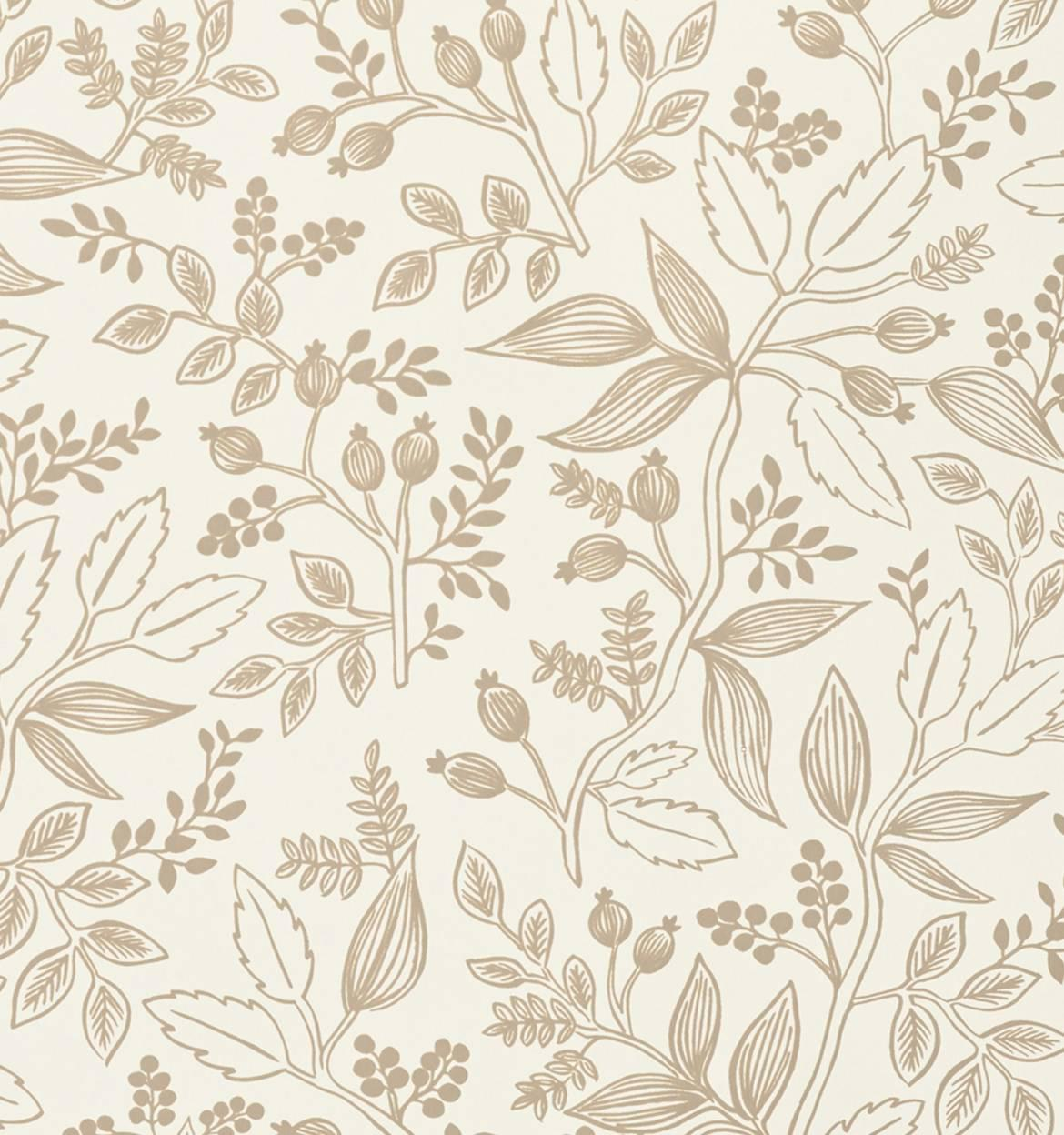 Queen Anne (Taupe) Wallpaper by RIFLE from RIFLE PAPER CO.
