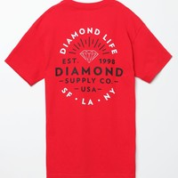 Diamond Supply Co Diamond Bright Red T-Shirt - Mens Tee - Red